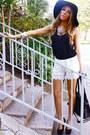 Lace-shorts-haute-rebellious-shorts-boho-floppy-haute-rebellious-hat
