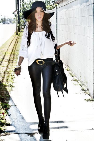 Black Belts, Black Forever 21 Hats, Black Leggings, Black ...