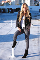 gray Forever 21 pants - black ankle boots FROM COLOMBIA boots