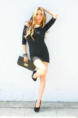 HAUTE&amp;REBELLIOUS bracelet - black HAUTE&amp;REBELLIOUS dress