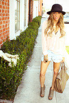 H&M bag - DYS shorts - HAUTE & REBELLIOUS blouse