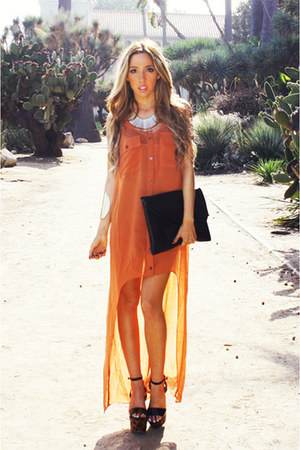 black HAUTE & REBELLIOUS bag - burnt orange HAUTE & REBELLIOUS dress