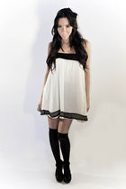 beige Panama dress dress - black Target stockings - Forever 21 shoes - black For