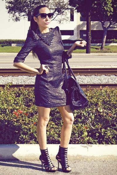 black Aldo shoes - H&M dress - Forever 21 accessories
