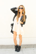 black H&M jacket - black wwwshophandrcom HAUTE & REBELLIOUS purse - silver wwwsh