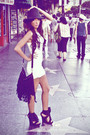 White-angle-dress-black-my-design-shoes-black-f21-purse-black-street-vendo