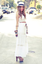 white contrast lace HAUTE & REBELLIOUS dress