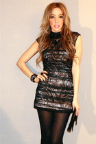 black Bebe dress - black Target tights - Steve Madden shoes