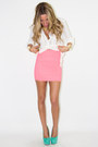 Bubble Gum Banded HAUTE & REBELLIOUS Skirts