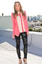 eggshell chiffon HAUTE & REBELLIOUS blouse - hot pink HAUTE & REBELLIOUS blazer