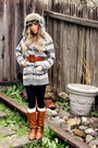 Silver-herritage-sweater-brown-downtown-la-boots-h-m-socks-herritage-hat