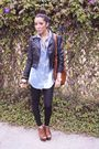 Blue-365-shirt-forever-21-black-h-m-jacket-brown-steve-madden-shoes-brow