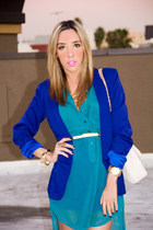 blue HAUTE & REBELLIOUS blazer - beige HAUTE & REBELLIOUS bag