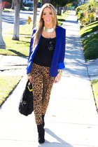 blue HAUTE & REBELLIOUS blazer - black HAUTE & REBELLIOUS bag