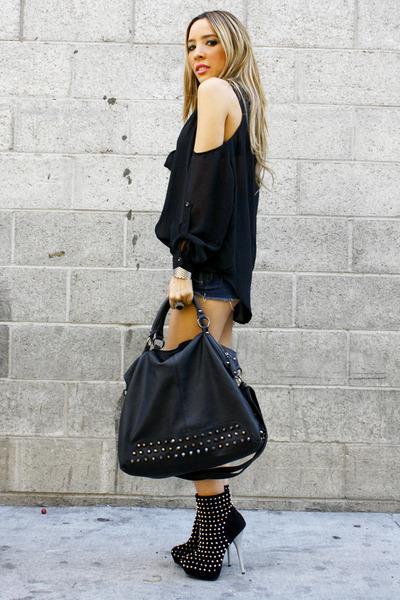 black studded bag HAUTE & REBELLIOUS bag