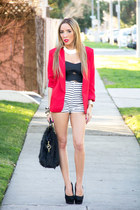 red The Original blazer - black sdgf bag - white Helmut Lang shorts
