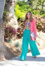 Aquamarine-palazzo-chiffon-haute-rebellious-pants