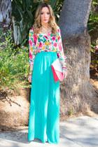 aquamarine palazzo chiffon HAUTE & REBELLIOUS pants