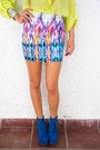 Blue-tribal-print-haute-rebellious-skirt