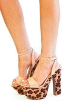 beige leopard print HAUTE & REBELLIOUS heels