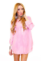 bubble gum dress shirt HAUTE & REBELLIOUS blouse