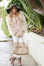 Tan-zara-coat-dark-brown-haute-rebellious-hat-beige-haute-rebellious-bag