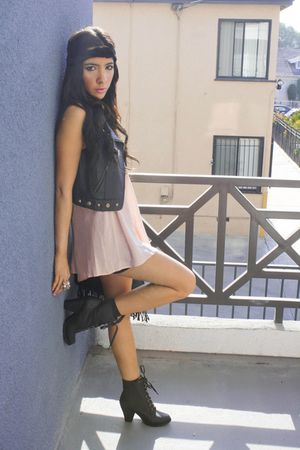 pink Final Touch blouse - black H&M skirt - black Forever 21 accessories - wild