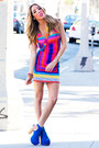 Blue-haute-rebellious-boots-hot-pink-haute-rebellious-dress