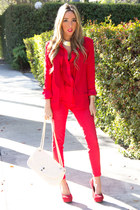 red HAUTE & REBELLIOUS blazer