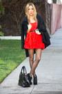Red-h-m-dress-black-haute-rebellious-bag