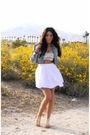 White-f21-skirt-f21-bra-downtown-la-shoes-random-boutique-jacket