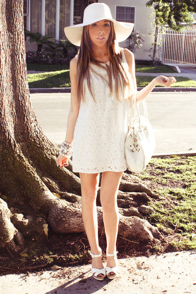 white Forever 21 shoes - white lace Forever 21 dress