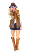 brown wwwshophandrcom HAUTE & REBELLIOUS vest