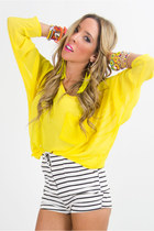 yellow chiffon HAUTE & REBELLIOUS blouse