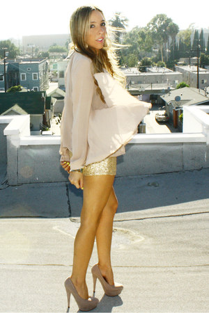 gold sequin shorts HAUTE &amp; REBELLIOUS shorts