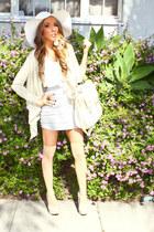 white hat - tan HAUTE&REBELLIOUS shoes - tan HAUTE&REBELLIOUS purse