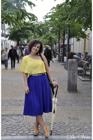 GINA TRICOT blouse - H&M skirt - H&M sandals - Lisbeth Dahl accessories