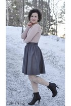 vagabond boots - mango blazer - hm skirt