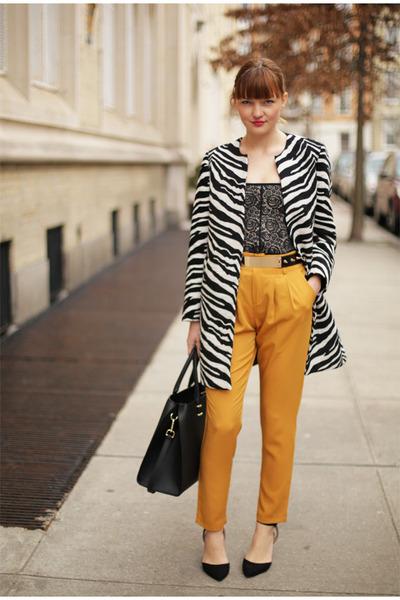 Zara coat - H&M bag