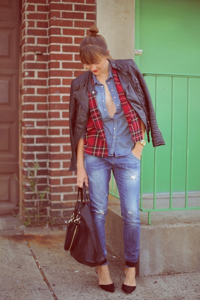 River Island blazer - H&M shirt - Givenchy bag