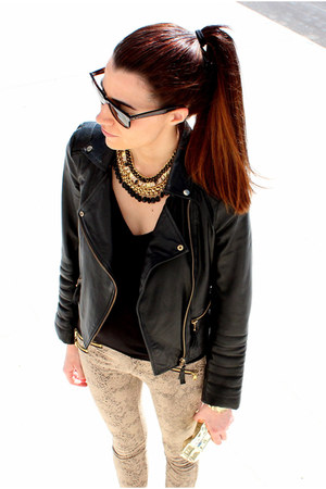 Zara jacket - ray-ban sunglasses - Zara pants - Zara necklace