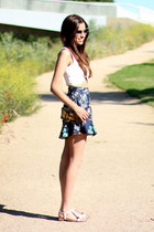 Zara top - Miu Miu sunglasses - Max Mara sandals - Zara skirt