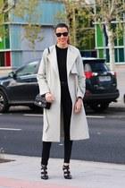 Uterque coat - dior bag - Aldo heels