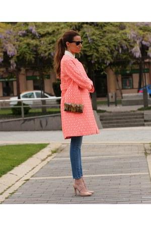 Vilagallo coat - Mango jeans - ray-ban sunglasses - Lodi heels