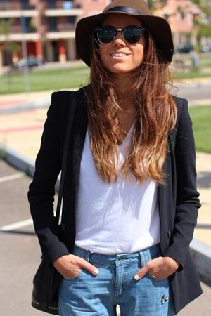 Massimo Dutti hat - Zara blazer - ray-ban sunglasses