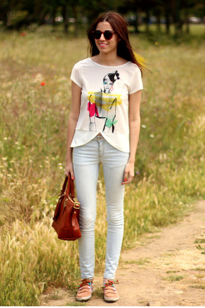 Zara shirt - Dolfie shoes - Zara jeans - coach bag