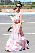 Mango dress - Bimba y Lola hat - ray-ban sunglasses