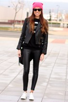 Zara jacket - ray-ban sunglasses - Converse sneakers