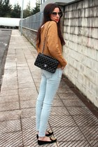 Zara jumper - Zara jeans - Chanel bag - Miu Miu sunglasses