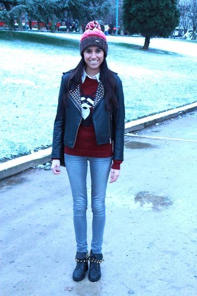Zara boots - Massimo Dutti jeans - Barts hat - Zara jacket